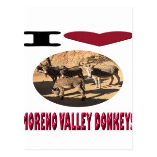 Love Moreno Valley Donkeys Postcard