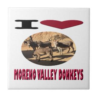 Love Moreno Valley Donkeys Tile