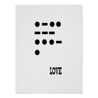 Love -- morse code poster