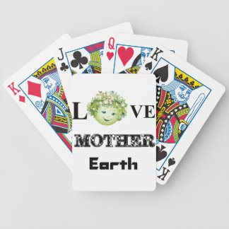 Love Mother Earth Bicycle Playing Cards