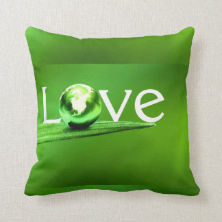 Love mother earth by healing love throw pillows