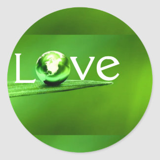 Love mother earth by healing love round stickers