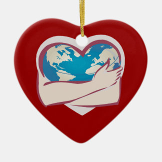 Love Mother Earth Ceramic Heart Decoration