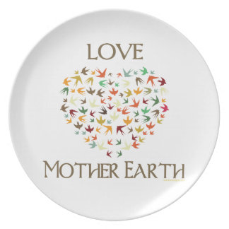 Love Mother Earth Plate