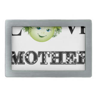 Love Mother Earth Rectangular Belt Buckle