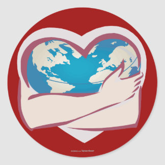 Love Mother Earth Round Sticker
