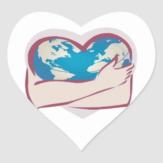 Love Mother Earth Heart Stickers