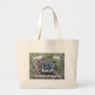 Love Mother Earth. Jumbo Tote Bag