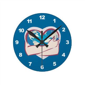 Love Mother Earth Wall Clocks