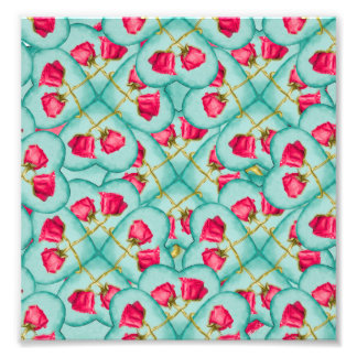 Love Motif Pattern Print Photograph