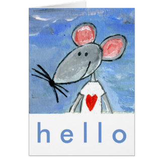 Love Mouse Greeting Card