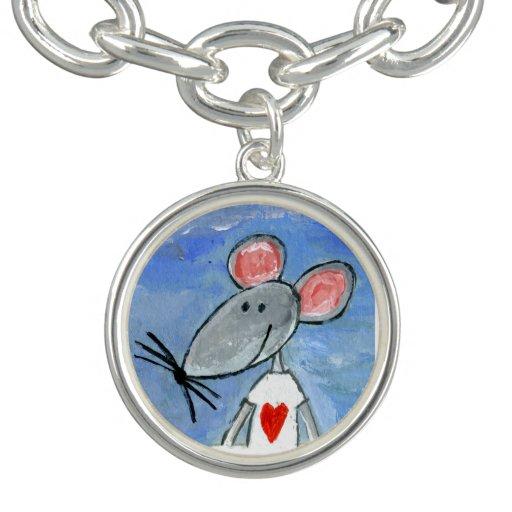 Love Mouse Charm Bracelet