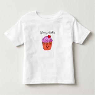 Love Muffin Pink Toddler T-Shirt