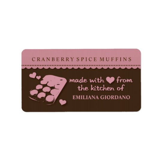 Love Muffins Food Gift Kitchen Labels