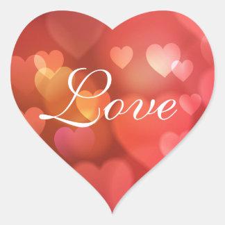 Love Multicolored Hearts Sticker/Seal