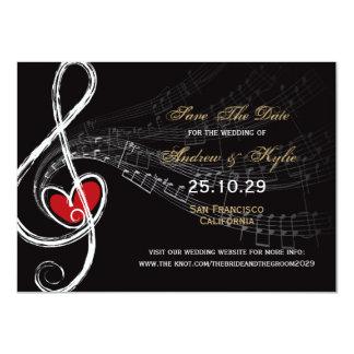 Love & Music Artist Photo Save The Date Announceme Card