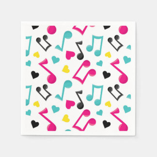 love music notes teen tween party paper napkins