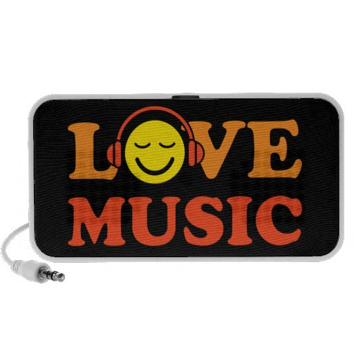 Love music portable Doodle speaker with smiley