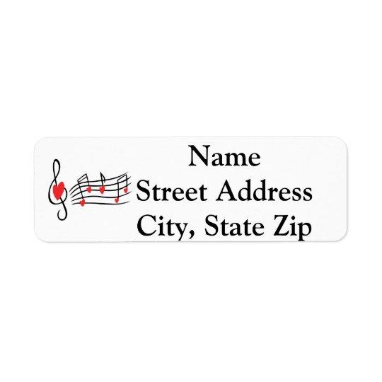 Love Music Return Address Label