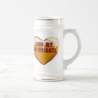 Love My 40 Weight Stein Beer Steins