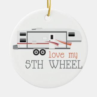 Love My 5th Wheel Ceramic Ornament