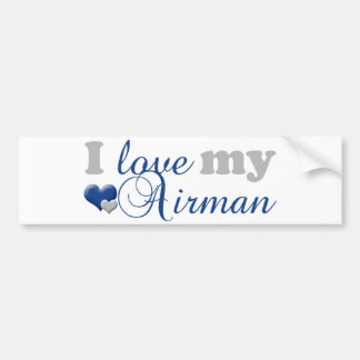 Love my Airman Bumper Sticker
