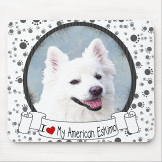 Love MY American Eskimo Mouse Pad