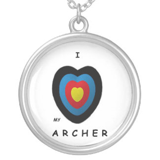love my archer silver plated necklace