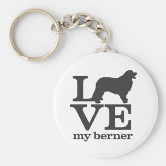 Love my Bernese Mountain Dog Key Ring