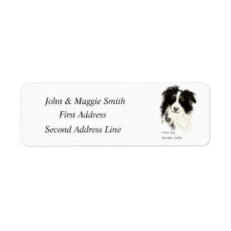 Love my Border Collie Fun Quote  Custom Address Return Address Label