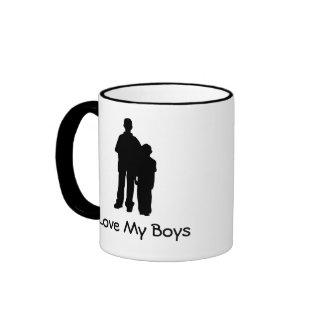 Love My Boys Coffee Mugs