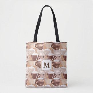 Love My Cappuccino Monogram Tote Bag