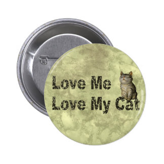 Love my Cat Pinback Buttons