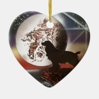 Love My Cocker Spaniel Ceramic Heart Decoration