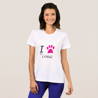 Love My Corgi Paw T-Shirt