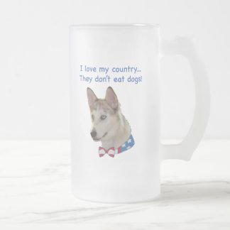 Love My Country Ausky Dogs Coffee Mug