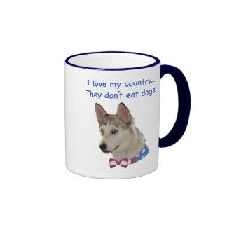 Love My Country Ausky Dogs Mug