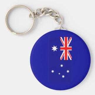 Love MY Country Australia Flag jGibney The MUSEUM Basic Round Button Keychain