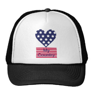 Love My Country Trucker Hats