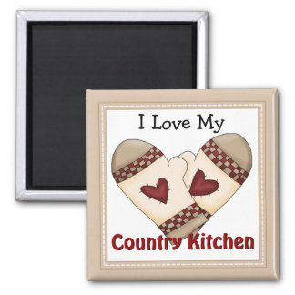 Love My Country Kitchen Magnet