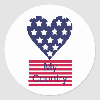 Love My Country Round Sticker
