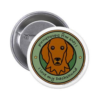 Love My Dachshund Pinback Button