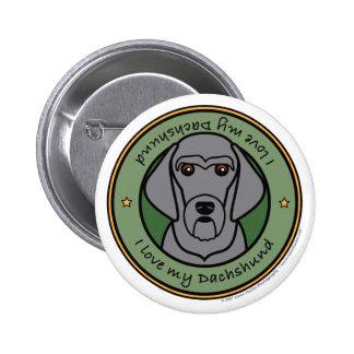 Love My Dachshund Pinback Buttons