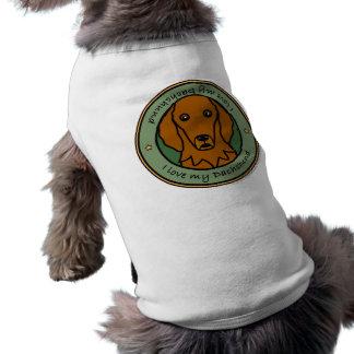Love My Dachshund Sleeveless Dog Shirt