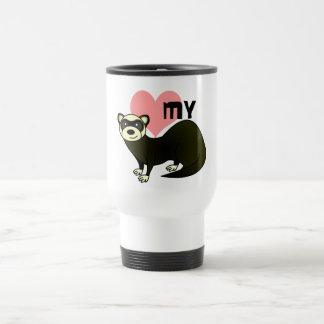 Love My Ferret - Sable Travel Mug
