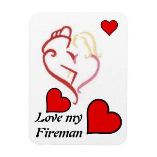 Love my Fireman Vinyl Magnets