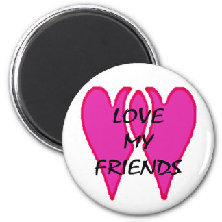 Love My Friends The MUSEUM Zazzle Gifts Fridge Magnet