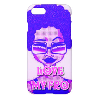 Love My Fro iPhone 7 Glossy Case