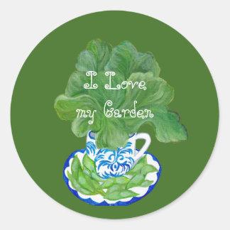 Love my Garden Classic Round Sticker