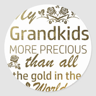 Love my Grandkid designs Classic Round Sticker